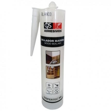 Еластичный герметик для древесины DISPERTEC M-6 БЕЛЫЙ, 300 мл