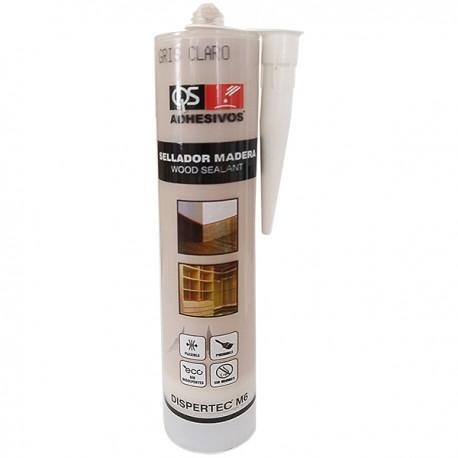 Еластичный герметик для древесины DISPERTEC M-6 СВЕТЛО-СЕРЫЙ, 300 мл