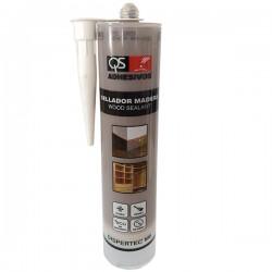 Еластичный герметик для древесины DISPERTEC M-6 ТЕМНО-СЕРЫЙ, 300 мл